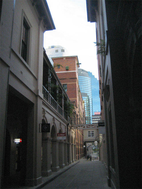 The GPO laneway on the city heritage trail