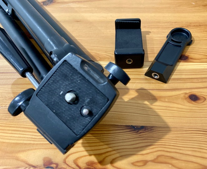 Tripod attachments for smart phones