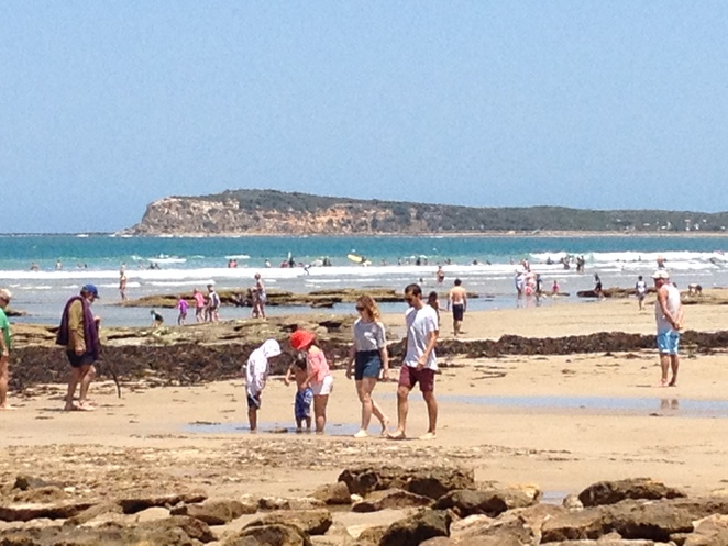 Lots of People at Ocean Grove beach