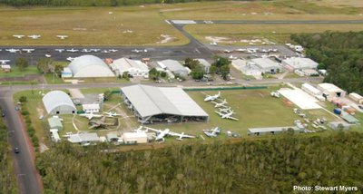 Aerial shot of the Queensland Air Museum