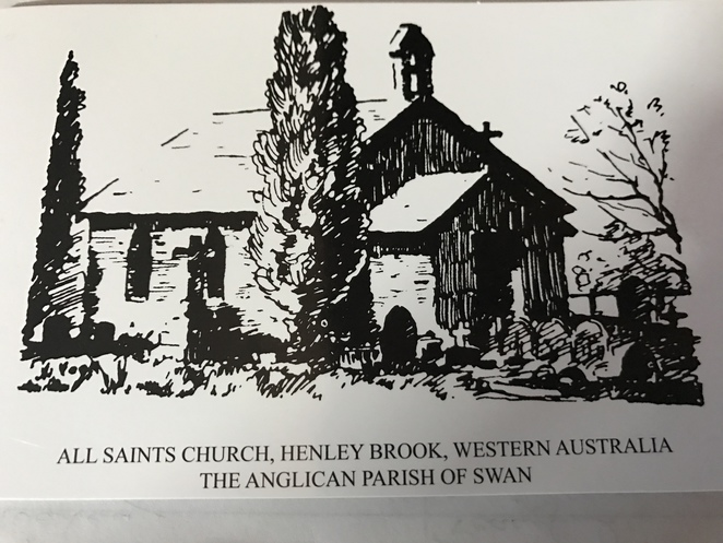 all saints church henley brook, oldest church in WA, Captain James Stirling,