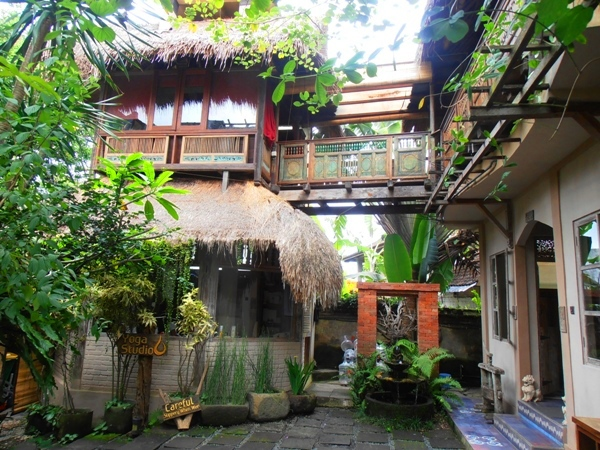The peaceful tropical gardens of the Yoga Barn are very conducive to yoga and meditation.