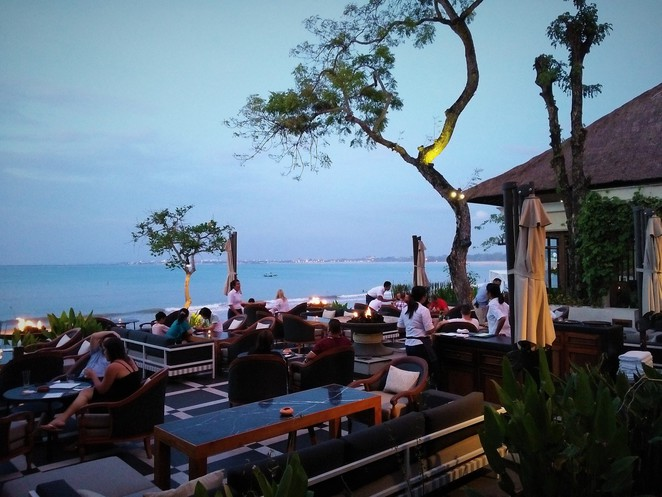 beachside restaurant in Bali