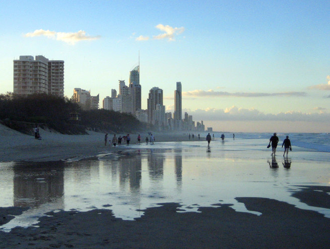 Broadbeach looking north towards Surfers Paradise