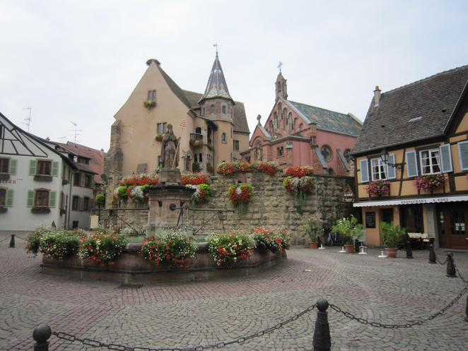 Fountains, Alsace, France, Eguisheim