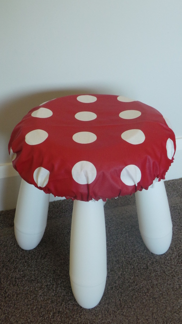 home made mushroom stool