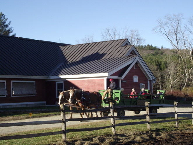 horse drawn hay ride