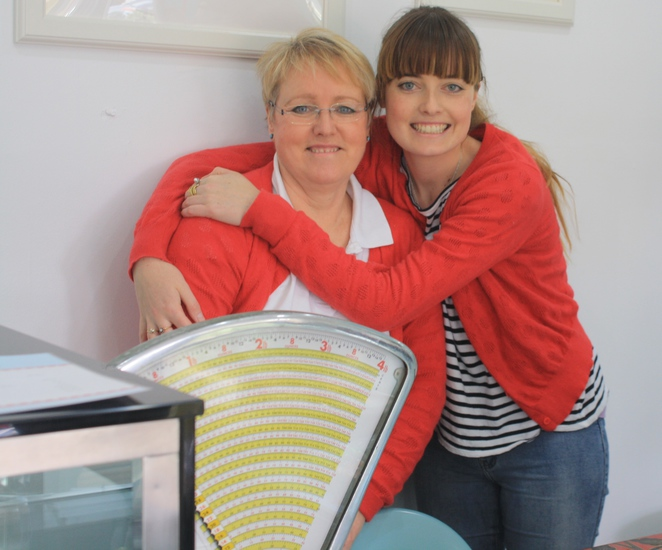 Chocolate maker Wendy Ashwin with her daughter Emma