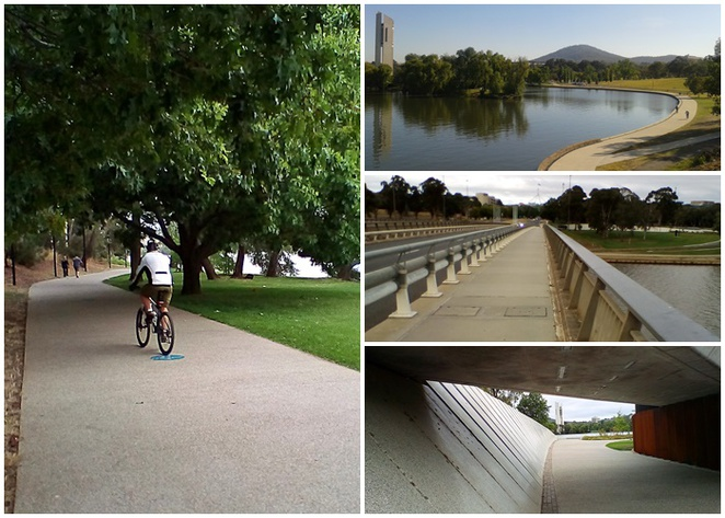 national carillon, lake burley griffin cycling loop, central loop, walking paths canberra, canberra, ACT, cycling, bike riding,