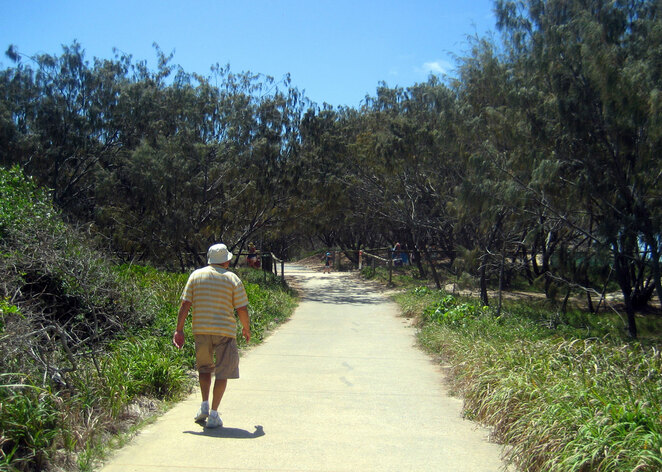 The paths through the park are popular with walkers, joggers and cyclists