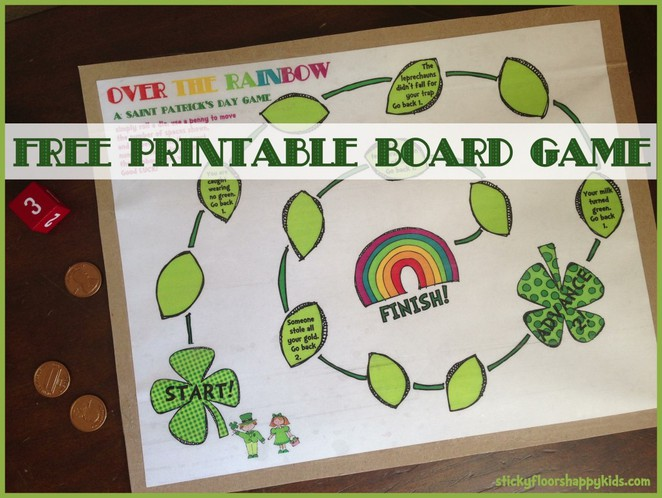 St Patricks day for kids, melbourne, free, printable, family, child friendly, list, free game
