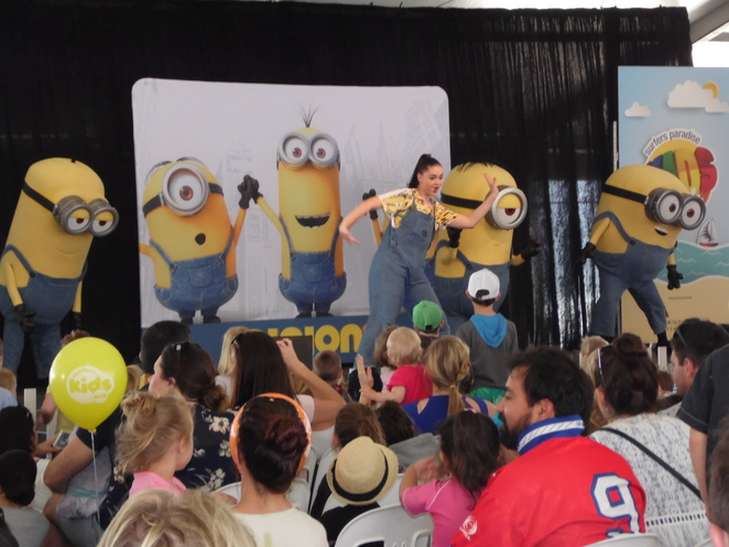 Minions Musical Show at Surfers Paradise Kids Week 2015