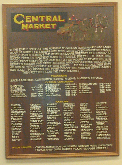 The Central Markets in Adelaide have an interesting and colourful history.
