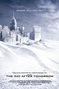 the day after tomorrow, weather movies, climate change, global warming, ice age, Dennis Quaid