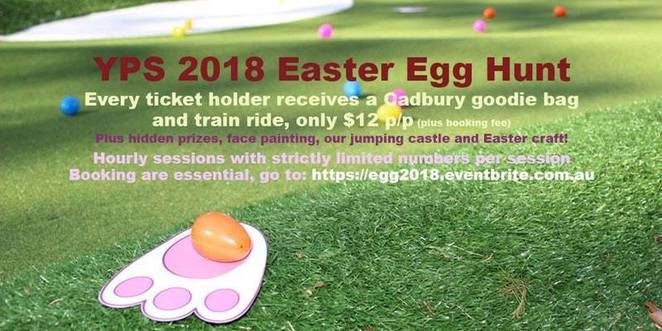 yarralumla play station, canberra, easter egg hunt, ACT, weston park, kids, easter long weekend, whats on, mini golf, train rides, easter egg scramble,