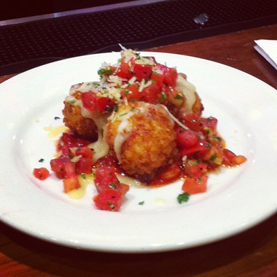 Crispy chicken with parmesan cheese and salsa