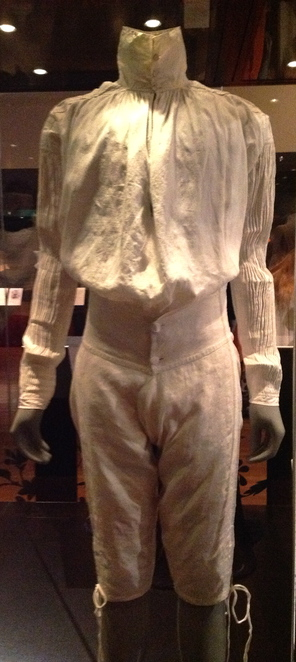18th century shirt and breeches on display at bendigo art gallery undressed: 350 years of underwear in fashion