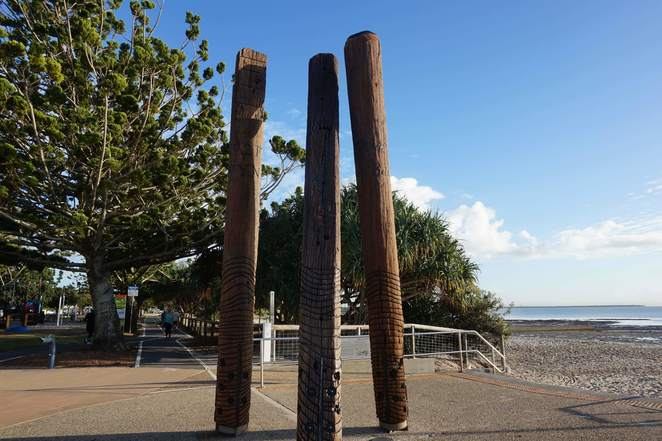 Aboriginal Art Work at Wynnum