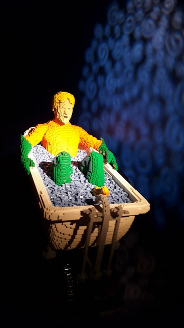 Aquaman at the Lego exhibit, Powerhouse Museum