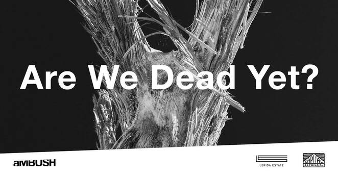 are we dead yet, stephen dupont, art gallery exhibition, ambush gallery canberra, art exhibition opening night, climate change events, environmental issies, tragedies and trauma of the earth, drinks, artists, entertainment, capital brewing co, lerida estate, live music, dj feraude, artworks for sale