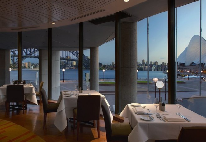 The Aria is a popular restaurant with stunning view of Sydney Harbour Bridge and the Opera House