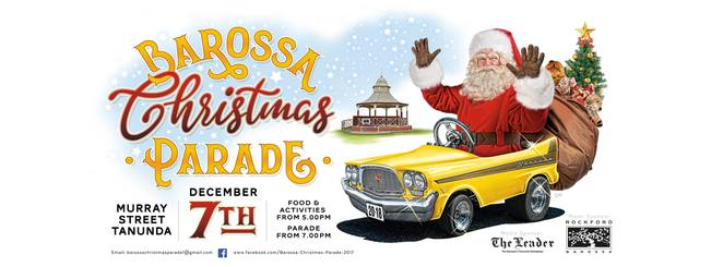 barossa christmas parade 2018, community event, fun things to do, activities, food and drink, fun for kids, face painters, animal displays, santa clause, christmas event, festive season