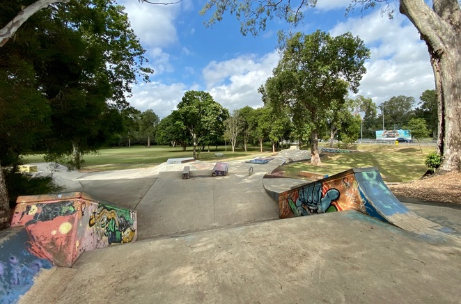 There is a large skatepark for older kids and teenagers
