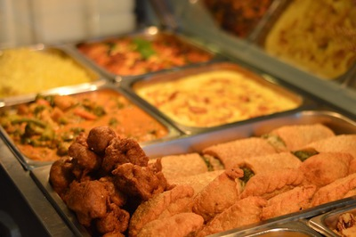 The buffet at Burleigh Head's Govindas Restaurant. This image is from the Burleigh Heads Govinda's website.
