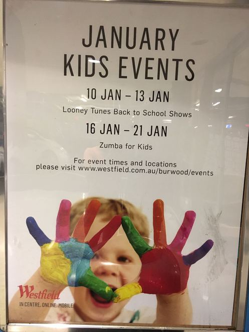 Burwood Westfield events