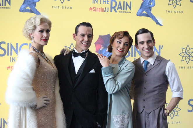 Cast of Singin' in the Rain at Lyric Theatre