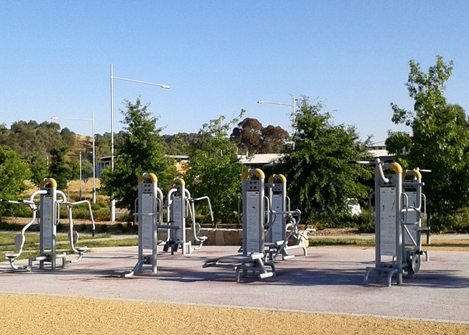 crace recreation park, canberra, ACT, outdoor fitness stations, best fitness stations in canberra, exrcise, gym, videos, workouts, playground, sports, families, kids, boot camp, circuit training,