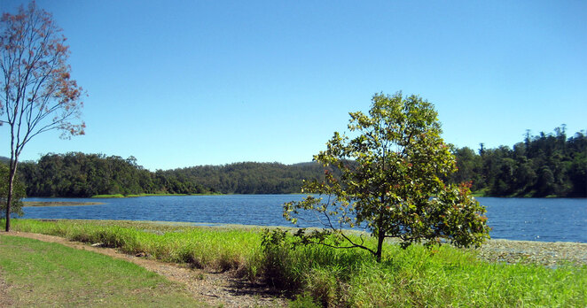 Enoggera Reservoir is a great place for hiking and other activities