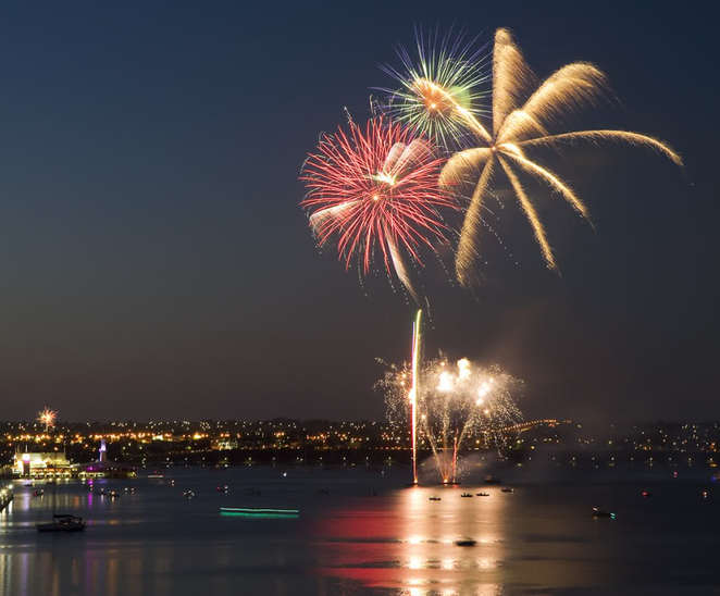 Fireworks at Geelong Waterfront