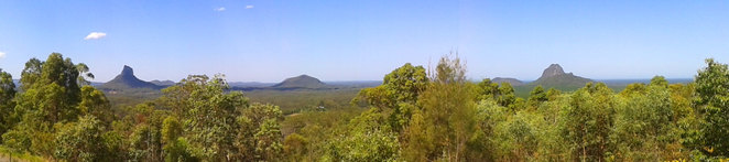 The beautiful glass house mountains