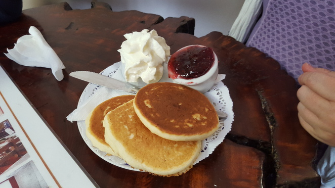 Fluffy Pikelets with Jam and Cream