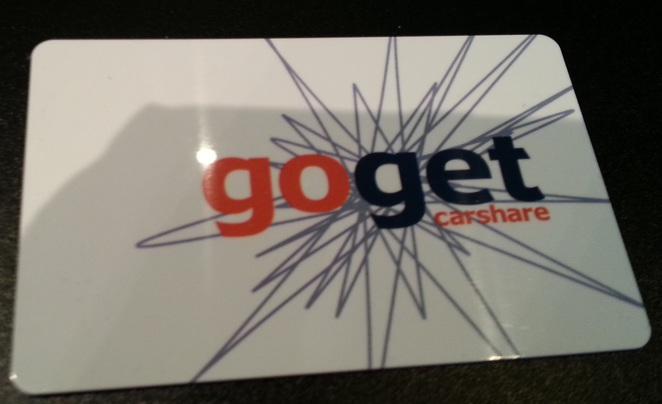GoGet membership card