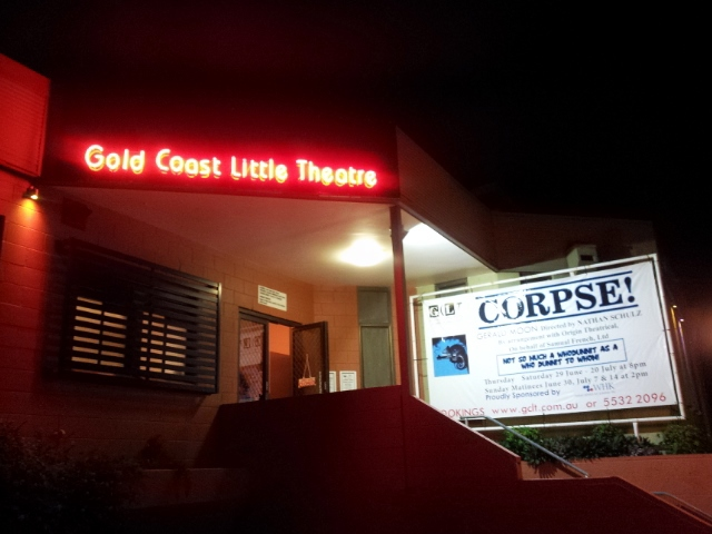 Corpse, Gold Coast Little Theatre, Gerald Moon, Nathan Schulz, Dean Mayer, Cecile Campbell, Thian Sykes, Darren Campbell, Barry Gibson
