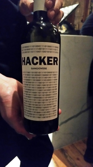 Hacker Sangivese rich red wine from Tuscany Italy