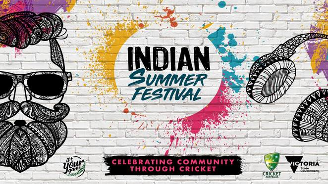 indian summer festival 2018, cultural event, fun things to do, community event, yarra park, east melbourne, cricket australia, victorian government, australia vs india boxing day test, celebrate modern indian culture, scrumptious food, enchanting music, fine art, memorable films, show stopping cricket, india men's test teams, meet and greet cricketers, family friendly free event, authentic indian culture, world class cricket action