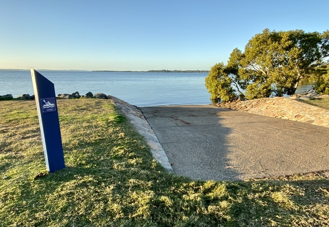 The kayak and canoe launching point at Wellington Point Recreation Reserve
