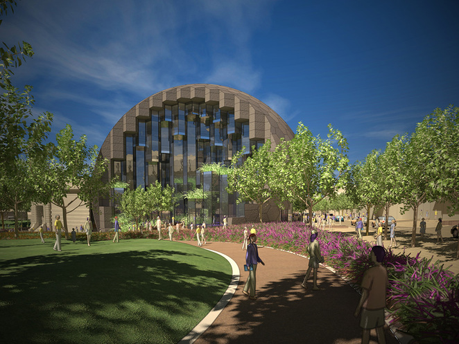 Artists impression of the new Geelong Library / Heritage Centre