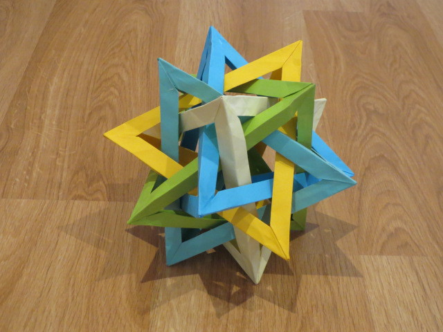 Origami Class, Tom Hull's Five Intersecting Tetrahedra, Adelaide
