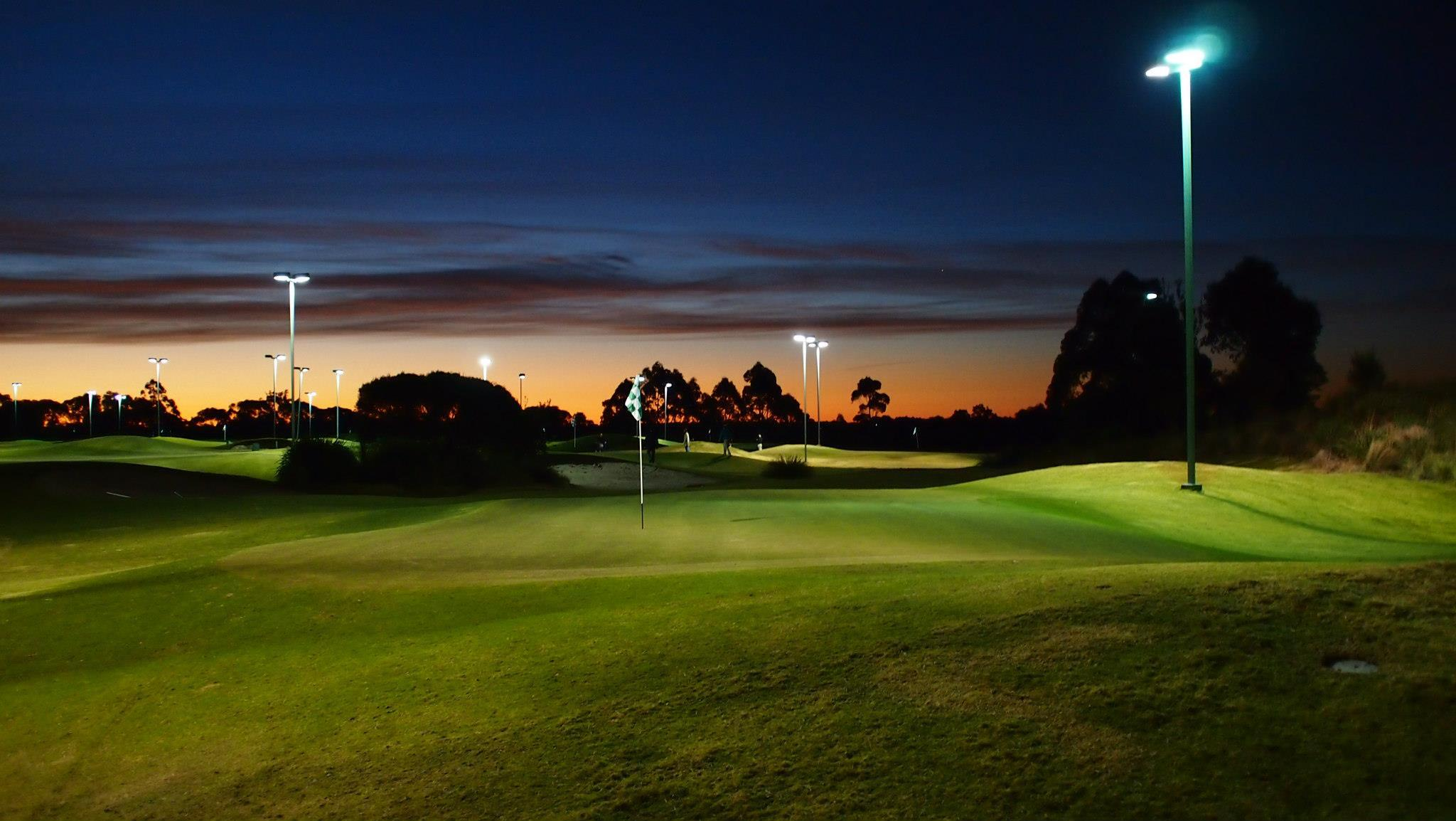 Golfers Are Putting Golf In The Evening Golf Course Golf