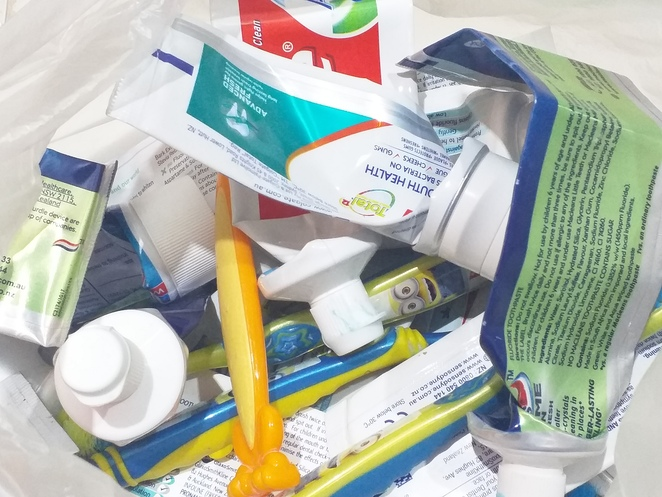 Recycling, oral care, dental