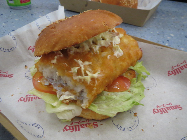 Smallfry Seafood, Fish Burger, Adelaide