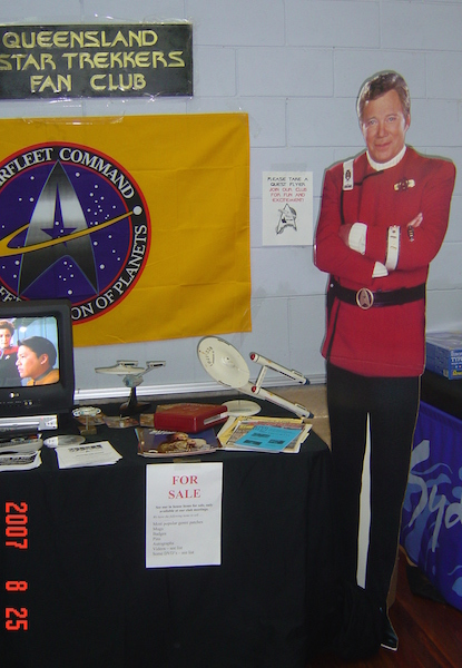 Star Trek, Captain Kirk, Queensland Star Trekkers Fan Club, Sci Fi,