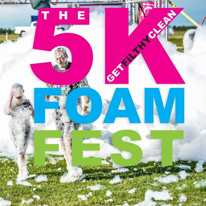 The 5K Foam Fest, Foam Fest Adelaide, Festival Adelaide 2018, Fun Run Adelaide, Adelaide Events February 2019