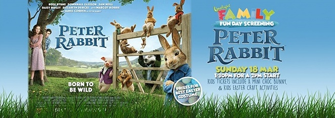 tuggeranong hyperdome, limelight cinemas, family fun day, canberra, peter rabbit, easter events, 2018,