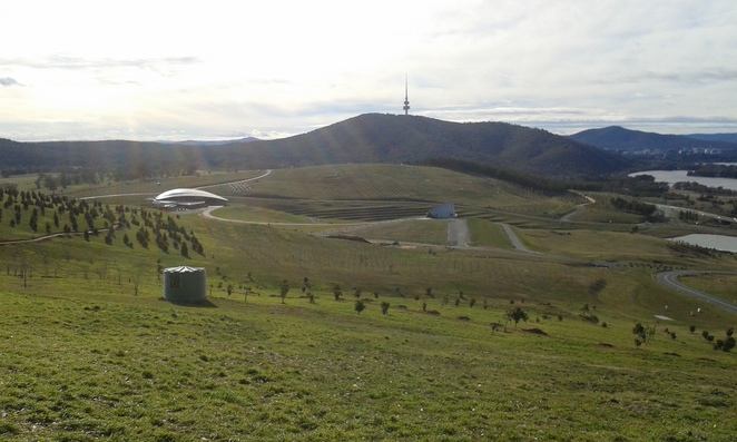 View from Dairy Farmers Hill, National Arboretum, Canberra