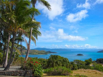 view from the top of Hamilton Island